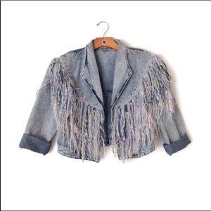 Vintage | Fringe Denim Jacket W5